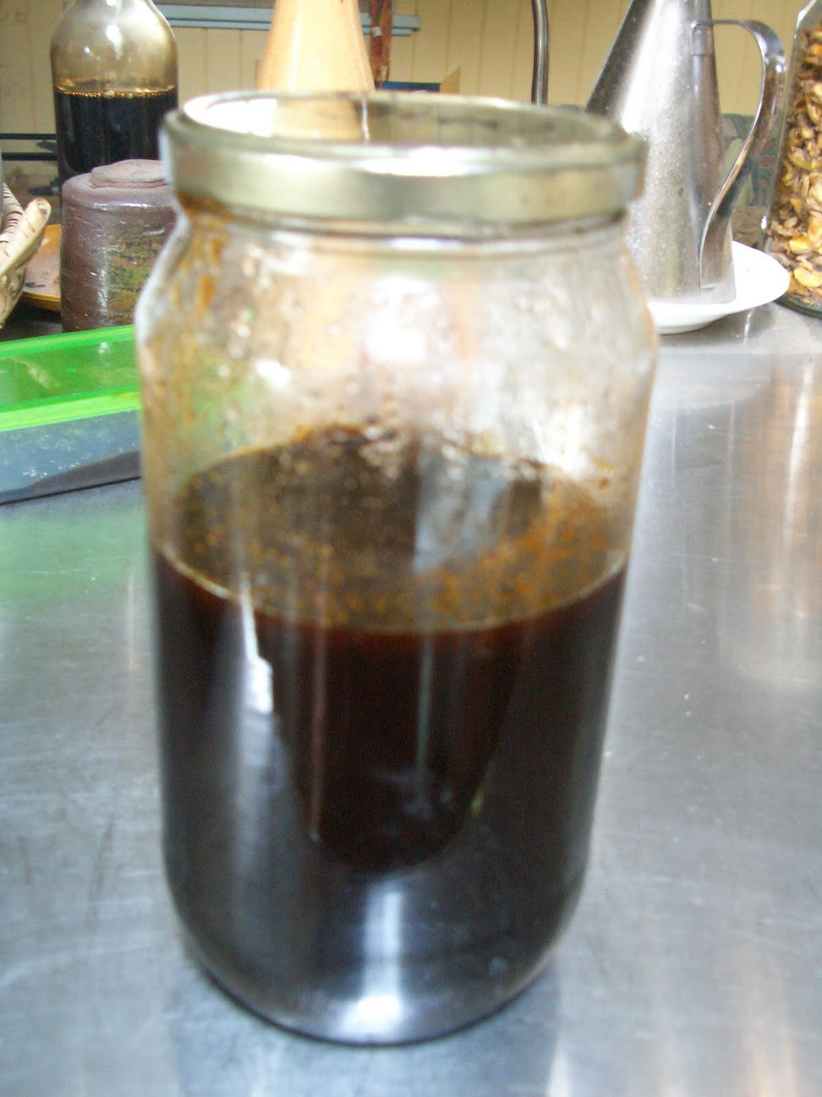 Home made yacon syrup