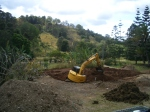 Digging the dam for the earthworks course 2012