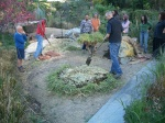 Making the 18 day compost as part of the PDC