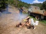 Burning bone for the pro-biotic and bio-fertiliser