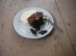 Double choc cake with creammmmmm....
