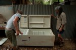 An old fridge converted...