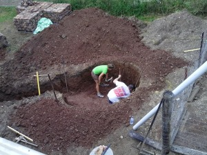 Completing the hole by hand