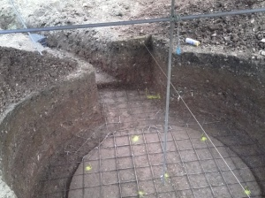 Rio mesh put down (all materials apart from cement is second hand).
