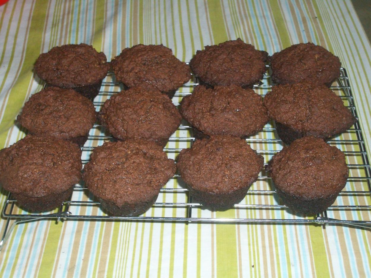 A dozen gluten free hazelnut muffins