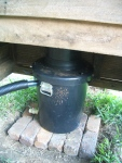 Nature Loos compost toilet bucket and chute