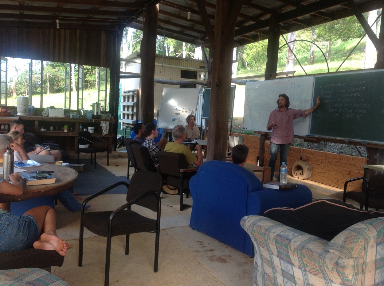 Geoff Lawton teaching at PRI Sunshine Coast