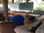 The comfortable covered outdoor teaching space at the Permaculture Research Institute Sunshine Coast.