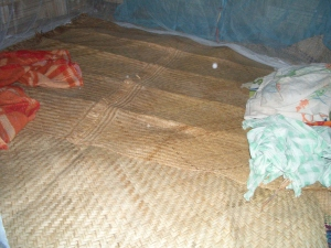 Bamboo mats for sleeping in Bareo