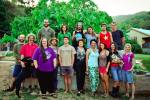 A group photo of another wonderful group of Permaculture Design Certificate course students
