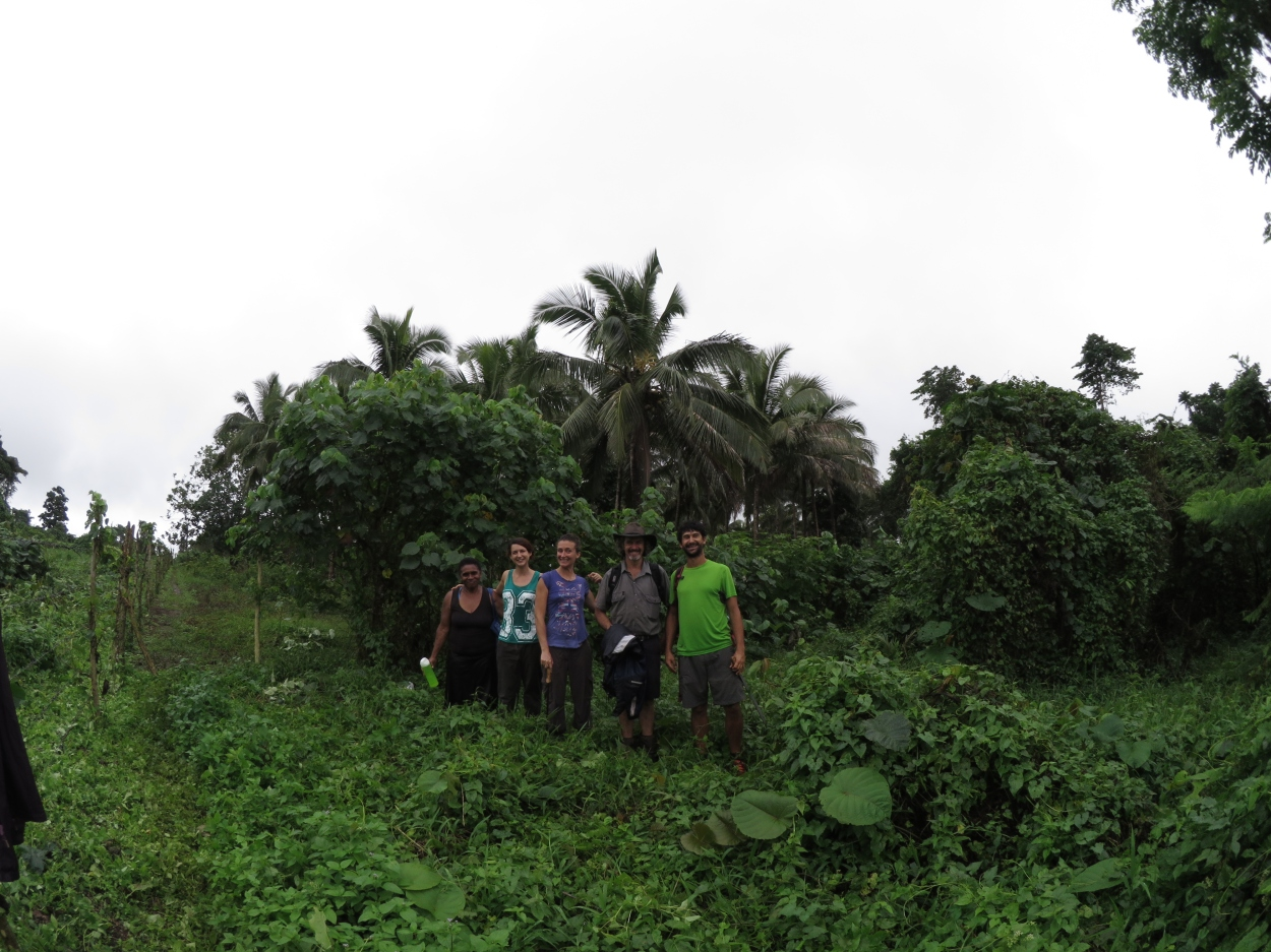 PRI Luganville volunteers and aunty Lyn at the site