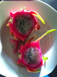 Homegrown dragon fruit from our permaculture farm in Queensland, Australia