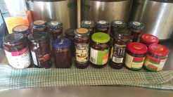 Homemade rosella jam from the permaculture garden at Maungaraeeda