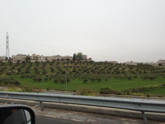 Tom Kendall views the green countryside near Amman in Jordan.
