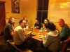 Some of our Permaculture Design Certificate course PDC course students at dinner