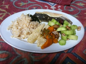 Fish for lunch on day 9 of the Permaculture Design Certificate course PDC course