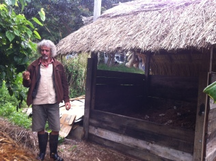 Permaculture Design Certificate course PDC course Day 2, humanure bank at Maungaraeeda