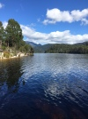 Lake and mountains in Tasmania